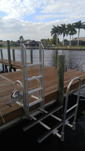 kayak launch attached to pier